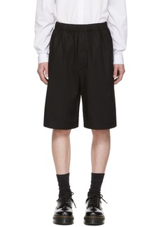 McQ Black Elasticized Shorts