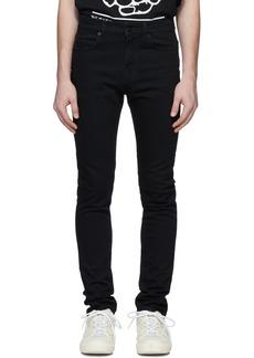 McQ Black Mismatched Strummer Jeans