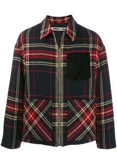 McQ check print shirt jacket
