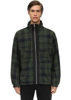 McQ Check Wool Blend Zip-up Jacket