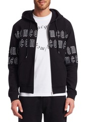 McQ Cotton Zip Logo Hoodie