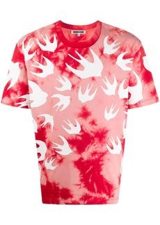 McQ crew neck swallow print T-shirt