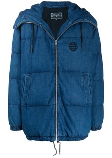 McQ denim quilted coat