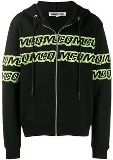 McQ embroidered logo zipped hoodie