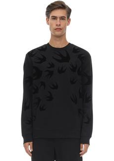 McQ Flocked Cotton Sweatshirt