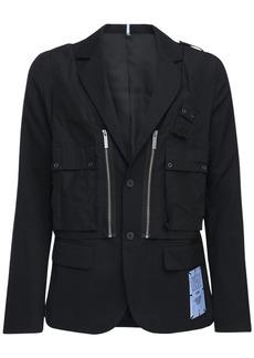 McQ Genesis Ii Tech & Wool Utility Blazer