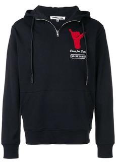 McQ Half zipped hoodie