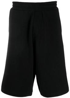 McQ logo patch track shorts