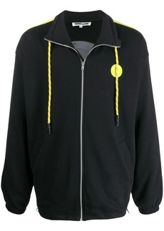 McQ logo patch zip-up sweatshirt