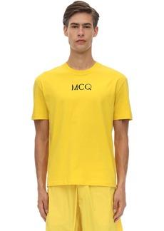 McQ Logo Print Cotton T-shirt
