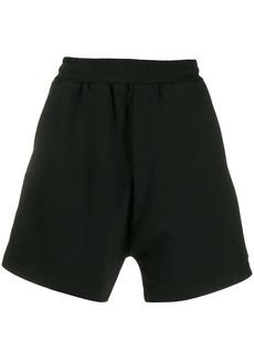 McQ logo stripe track shorts