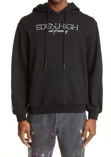 McQ Eden High Embroidered Organic Cotton Hoodie