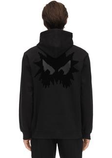 McQ Monster Print Cotton Sweatshirt Hoodie