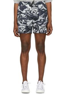 McQ Navy & White Holiday Shorts