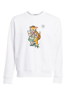 McQ Oversized Graphic Cotton Sweatshirt
