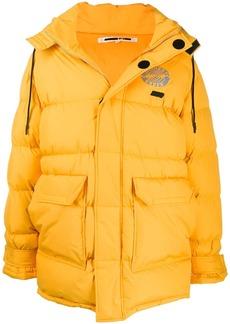 McQ oversized logo-patch padded coat