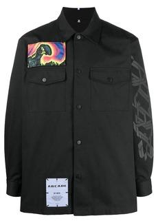 McQ patch print button-down shirt