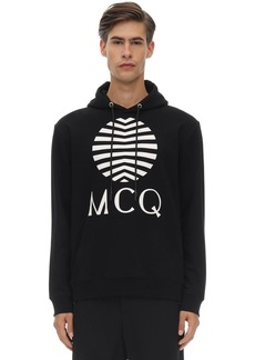 McQ Printed Cotton Jersey Hoodie