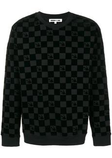 McQ Swallow checkered sweatshirt