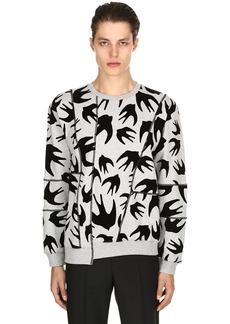 McQ Swallows Patchwork Jersey Sweatshirt