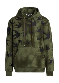 McQ Two-Tone Military Graphic Hoodie