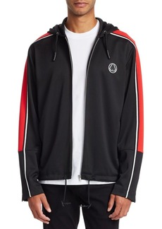 McQ Zip-Front Taped Hooded Jacket
