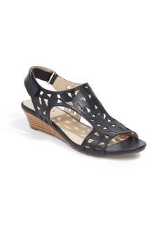 Me Too Sienna Laser Cut Wedge Sandal (Women)