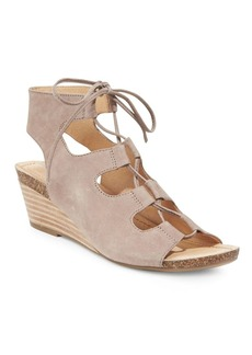 Me Too Tami Leather Wedge Ghillie Sandals