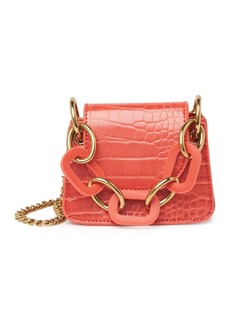 Melie Bianco Bella Croc Embossed Crossbody Bag