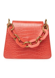 Melie Bianco Loren Croc Embossed Crossbody Bag