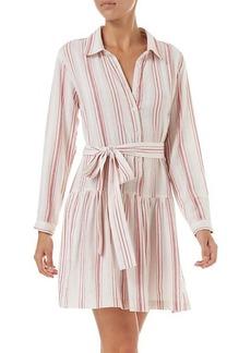Melissa Odabash Amelia Striped Cotton Shirtdress