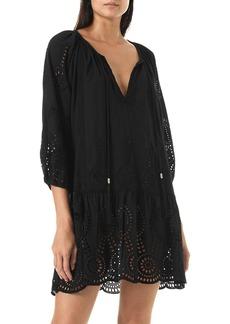 Melissa Odabash Ashley Lasercut Caftan Dress