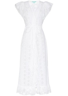 Melissa Odabash Brianna wrap midi cotton dress