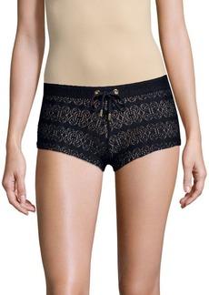 Melissa Odabash Crochet Lace Shorts