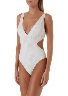 Melissa Odabash Del Mar Cutout Cheeky One-Piece Swimsuit