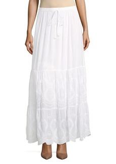 Melissa Odabash Embroidered Maxi Skirt