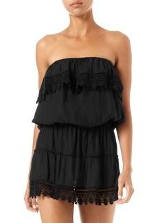 Melissa Odabash Joy Crochet-Trim Strapless Mini Dress