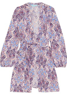Melissa Odabash Kiera Printed Jersey Wrap Mini Dress