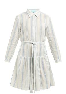 Melissa Odabash Amelia striped cotton mini dress