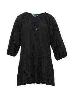 Melissa Odabash Ashley laser-cut cotton-poplin dress