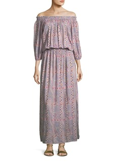 Melissa Odabash Faith Paisley Peasant Dress