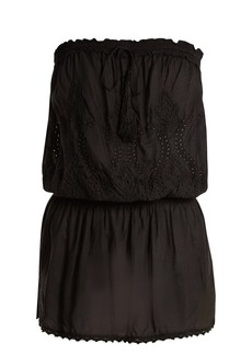 Melissa Odabash Fruley embroidered strapless dress