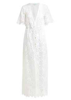 Melissa Odabash Gabriella lace cotton-blend kaftan