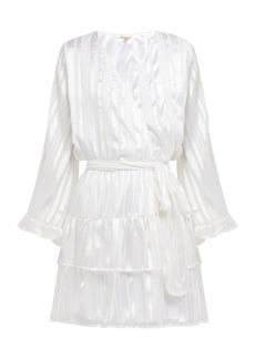 Melissa Odabash Hansen striped-chiffon mini dress