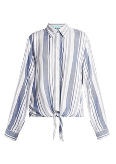 Melissa Odabash Inny striped beach shirt