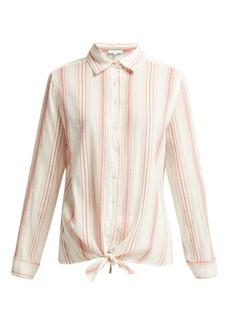 Melissa Odabash Inny striped cotton shirt