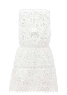Melissa Odabash Iris broderie-anglaise cotton mini dress