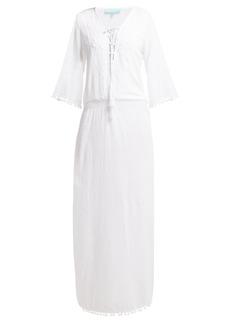 Melissa Odabash Kari side-slit cotton-voile maxi dress