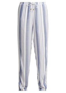 Melissa Odabash Kelly striped wide-leg trousers