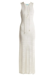 Melissa Odabash Kourtney sleeveless eyelet-knit maxi dress